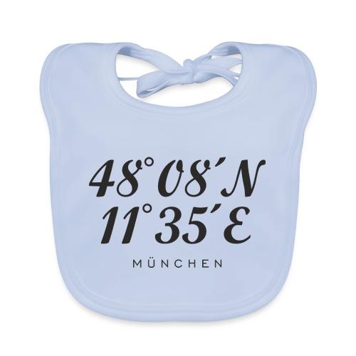 Münchener Koordinaten (Schwarz) München - Baby Bio-Lätzchen