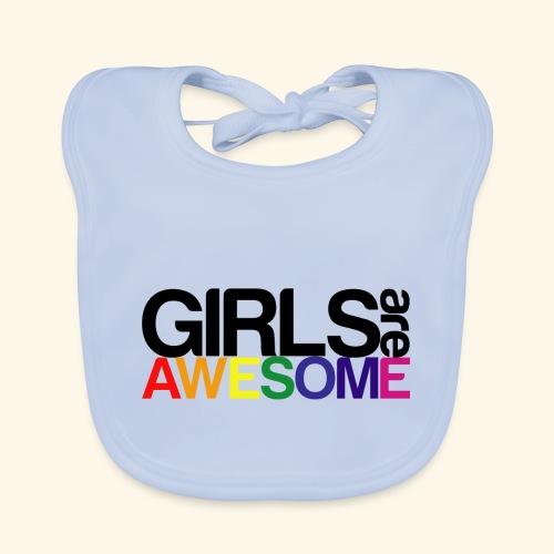 Girls are awesome - Ekologiczny śliniaczek