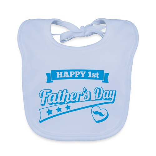 Happy 1st Father's Day - Baby Organic Bib