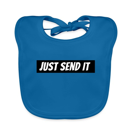 just send it logo - Organic Baby Bibs