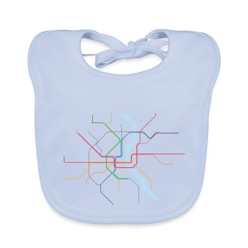 Subway Cologne (hell) - Baby Bio-Lätzchen