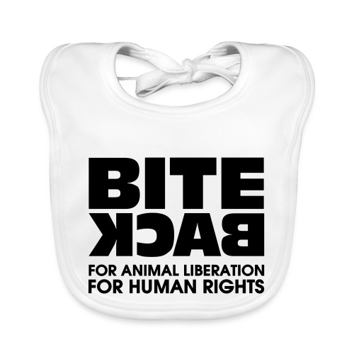 Bite Back logo - Bio-slabbetje voor baby's