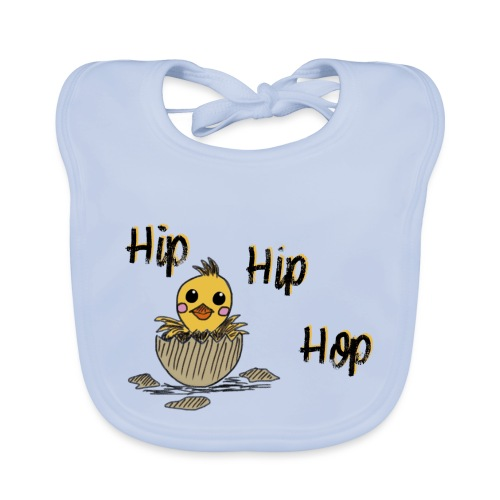 Küken Hip Hip Hop Ostern - Baby Bio-Lätzchen