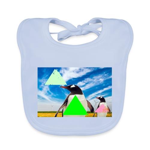 ultra_mega_h--ftig_pingvin_med_yolo_man_swag - Ekologisk babyhaklapp