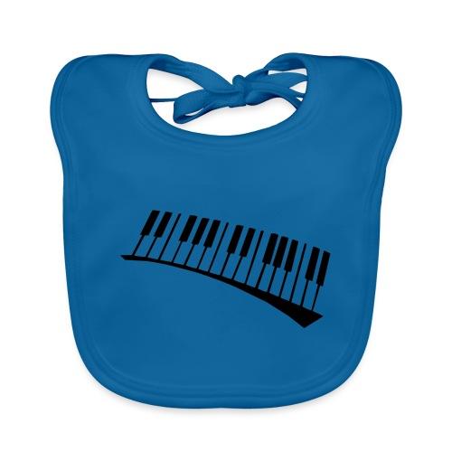 Piano - Babero de algodón orgánico para bebés