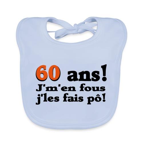 60 ans cadeau humour logo - Bavoir bio Bébé