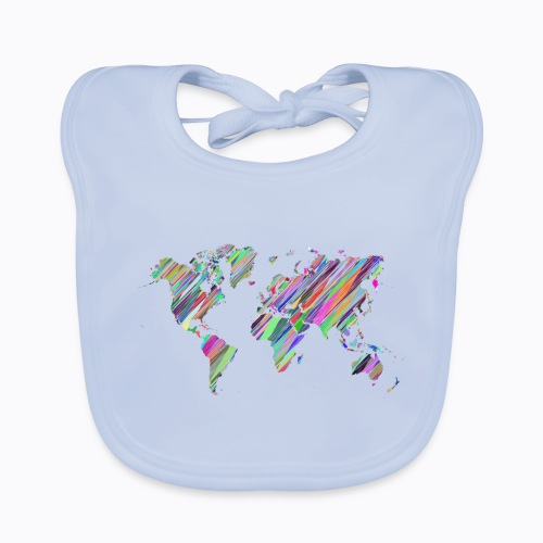world colorful - Baby Organic Bib