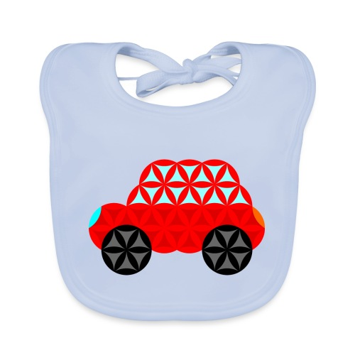 The Car Of Life - M01, Sacred Shapes, Red/R01. - Organic Baby Bibs