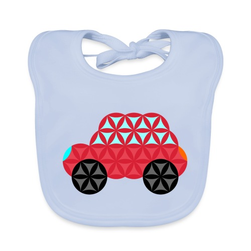 The Car Of Life - M02, Sacred Shapes, Red/186 - Organic Baby Bibs