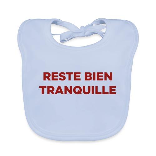 Logo Reste Bien rouge - Bavoir bio Bébé