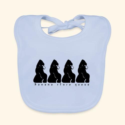 Gorille & file d'attente (version noire) - Bavoir bio Bébé