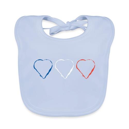 3 Herzen für Frankreich 21.1 - Baby Bio-Lätzchen