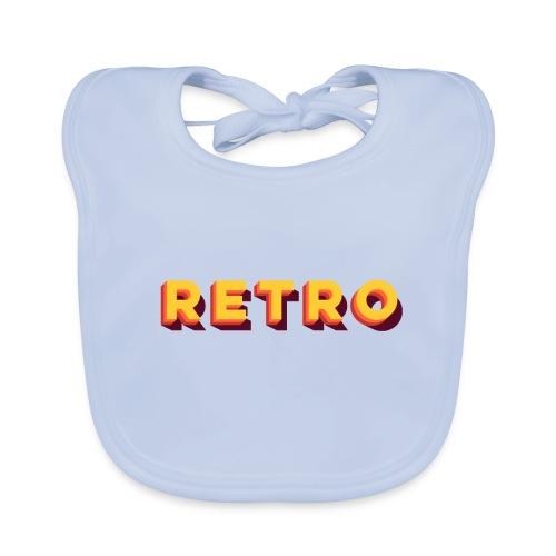 Retro - Typo Stack Classic - Baby Bio-Lätzchen