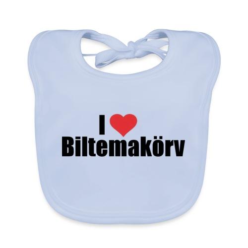 I Love Biltemakörv - Ekologisk babyhaklapp