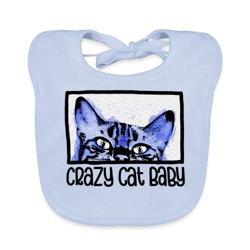 Crazy Cat Baby Boy - Baby Bio-Lätzchen