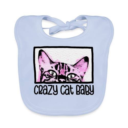 Crazy Cat Baby Girl - Baby Bio-Lätzchen