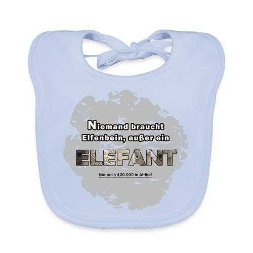 Niemand braucht Elfenbein, außer ein Elefant - Baby Bio-Lätzchen