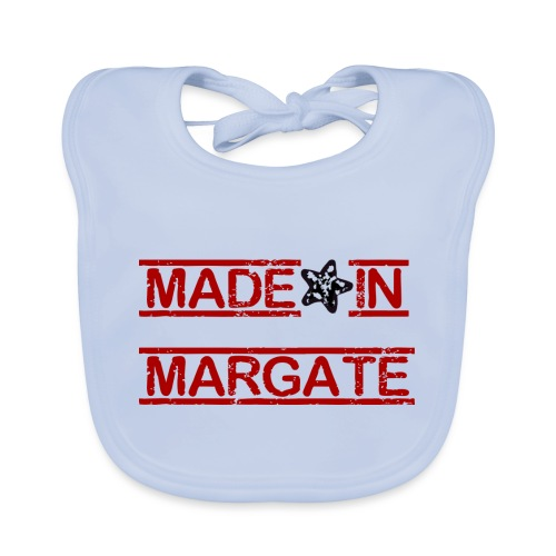 Made in Margate - RED - Baby Organic Bib