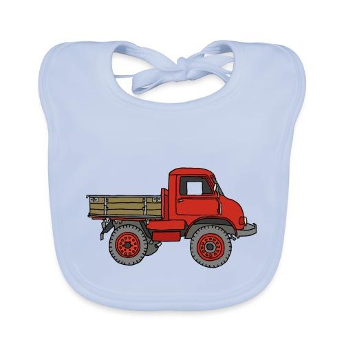 Roter Lastwagen, LKW, Laster - Baby Bio-Lätzchen