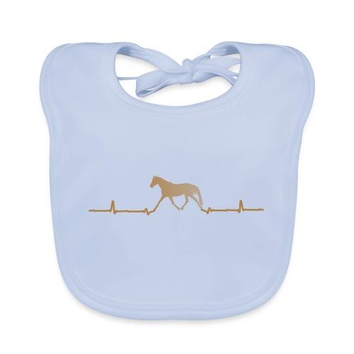 Heartbeat Pferd - Baby Bio-Lätzchen