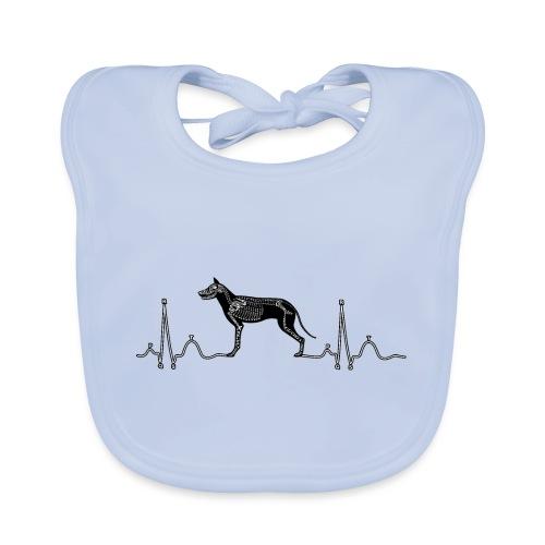 ECG met hond - Bio-slabbetje voor baby's