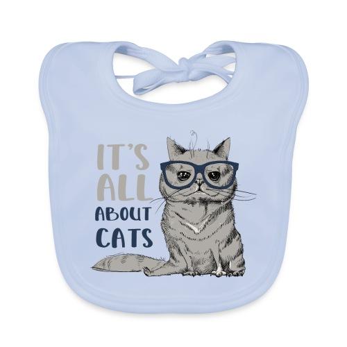 Coole Katze: It's All About Cats - Baby Bio-Lätzchen