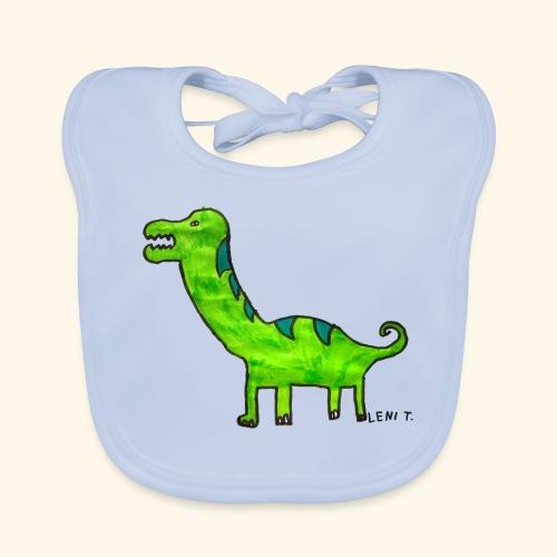 LeniT Dinosaur - Vauvan luomuruokalappu