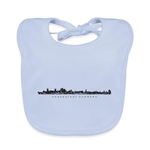 Hamburg Skyline Vintage/Schwarz Hansestadt Hamburg - Baby Bio-Lätzchen