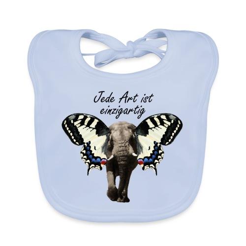 Elefant I Schmetterling - Baby Bio-Lätzchen