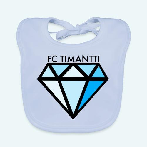 FC Timantti mustateksti - Vauvan luomuruokalappu