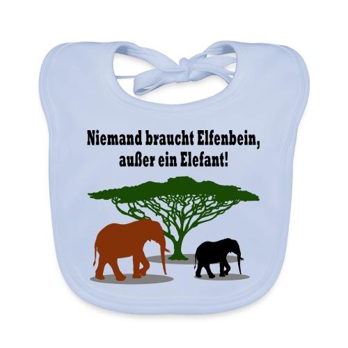 Niemand braucht Elfenbein, außer ein Elefant! - Baby Bio-Lätzchen