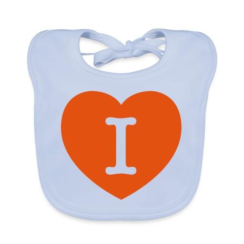 I - LOVE Heart - Organic Baby Bibs
