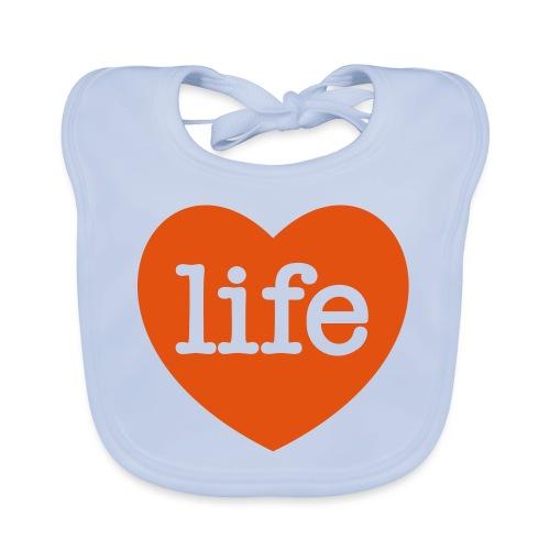 LOVE LIFE heart - Organic Baby Bibs