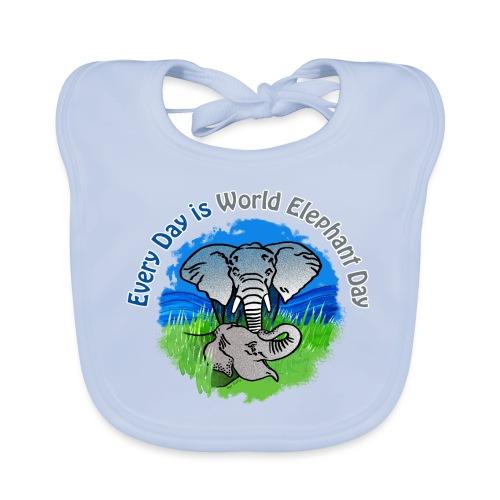 Every Day Is World Elephant Day - Baby Bio-Lätzchen