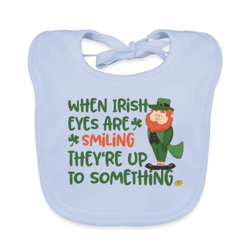 Irish eyes shine - Irish leprechaun - Baby Organic Bib