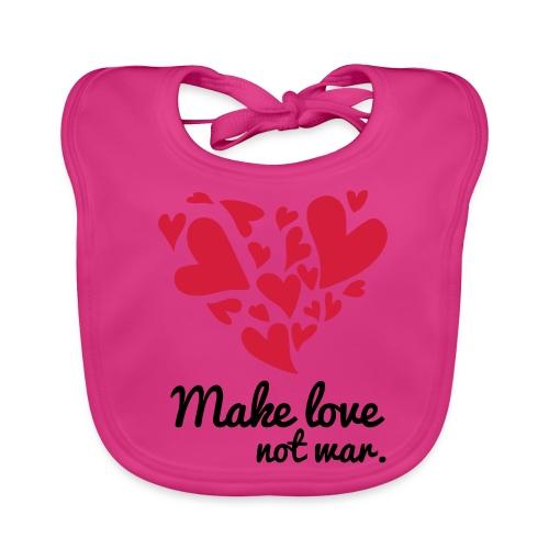 Make Love Not War T-Shirt - Baby Organic Bib