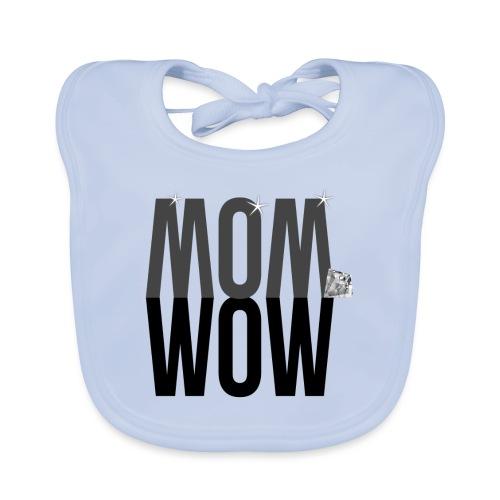 MOM WOW dunkel - Baby Bio-Lätzchen