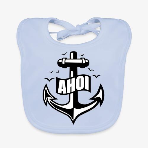 104 Ahoi Anker Möwen maritim - Baby Bio-Lätzchen