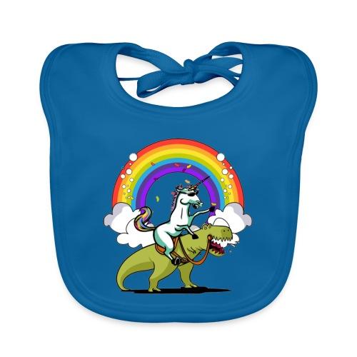 Unicorn Riding Ninja - Vauvan luomuruokalappu