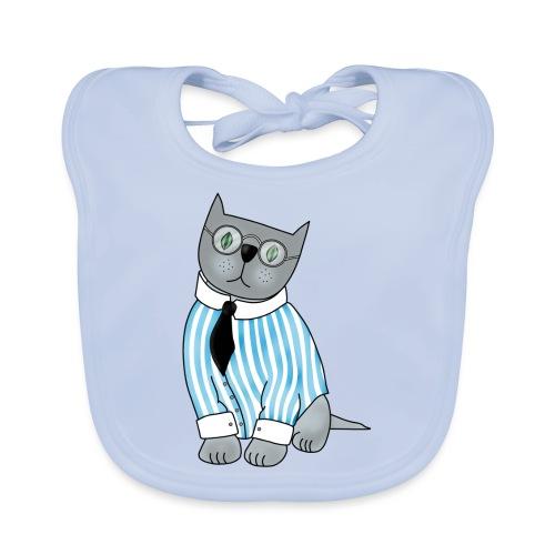 Cat with glasses - Baby Organic Bib