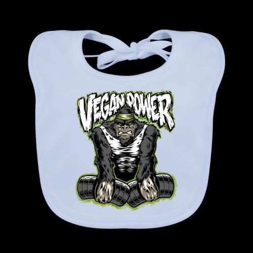veganpower Muskel Gorilla - Baby Bio-Lätzchen