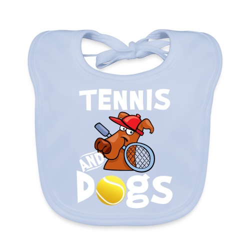 Tennis And Dogs Funny Sports Pets Animals Love - Baby Bio-Lätzchen