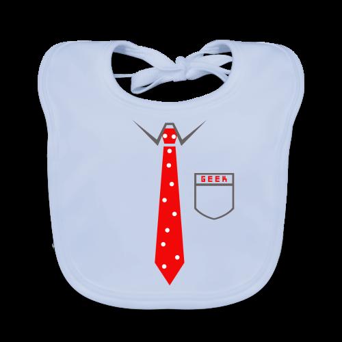 Geek   Schlips Krawatte Wissenschaft Streber - Baby Bio-Lätzchen