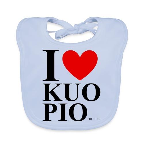 I LOVE KUOPIO ORIGINAL (musta) - Vauvan luomuruokalappu
