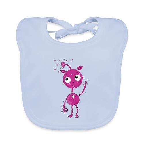 Kleines außerirdisches Mädchen - Baby Bio-Lätzchen