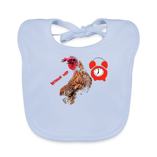 Wake up, the cock crows - Organic Baby Bibs