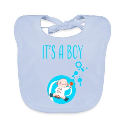 It's a Boy Auto. Witzige süße Umstandsmode T-Shirt - Baby Bio-Lätzchen