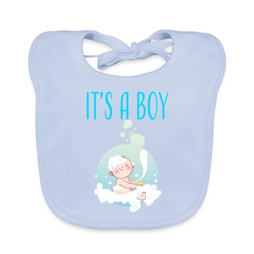 It's a Boy Badewanne. Witzige Umstandsmode T-Shirt - Baby Bio-Lätzchen