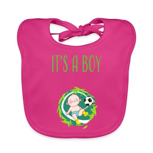 It's a Boy Fußball. Witzige Umstandsmode T-Shirt - Baby Bio-Lätzchen