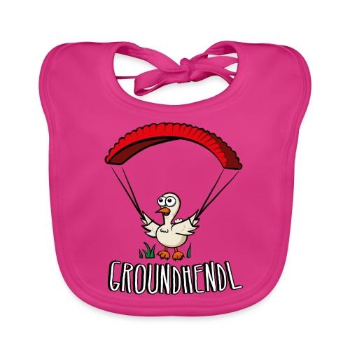 Groundhendl Paragliding Huhn - Baby Bio-Lätzchen